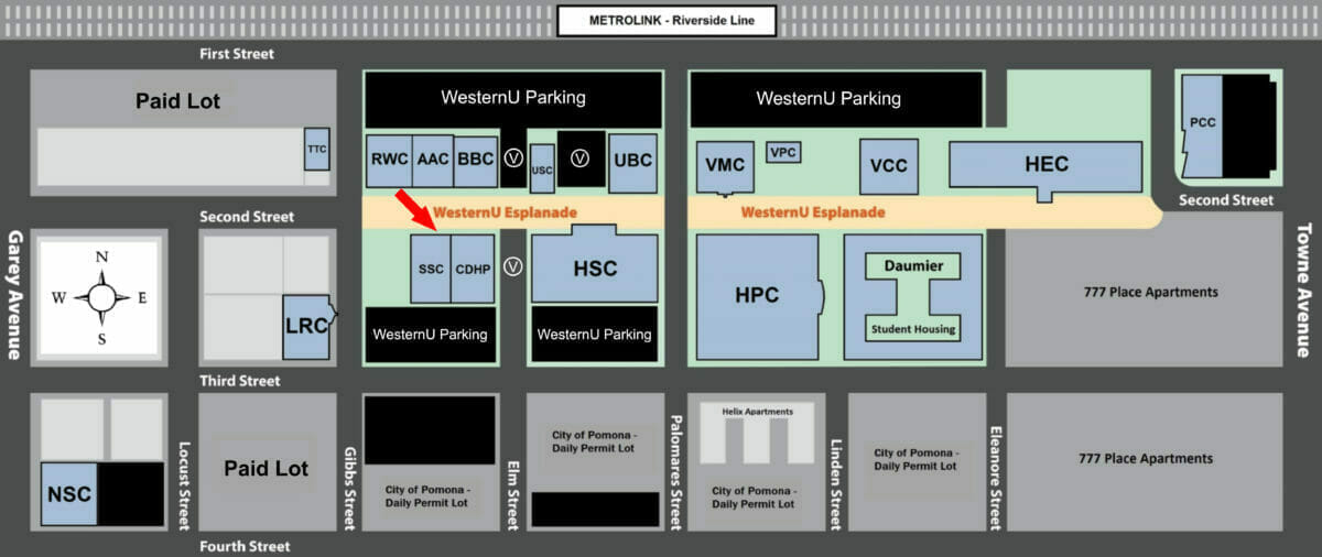 Campus tour map