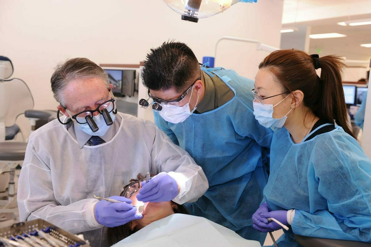 Students in Dental Lab