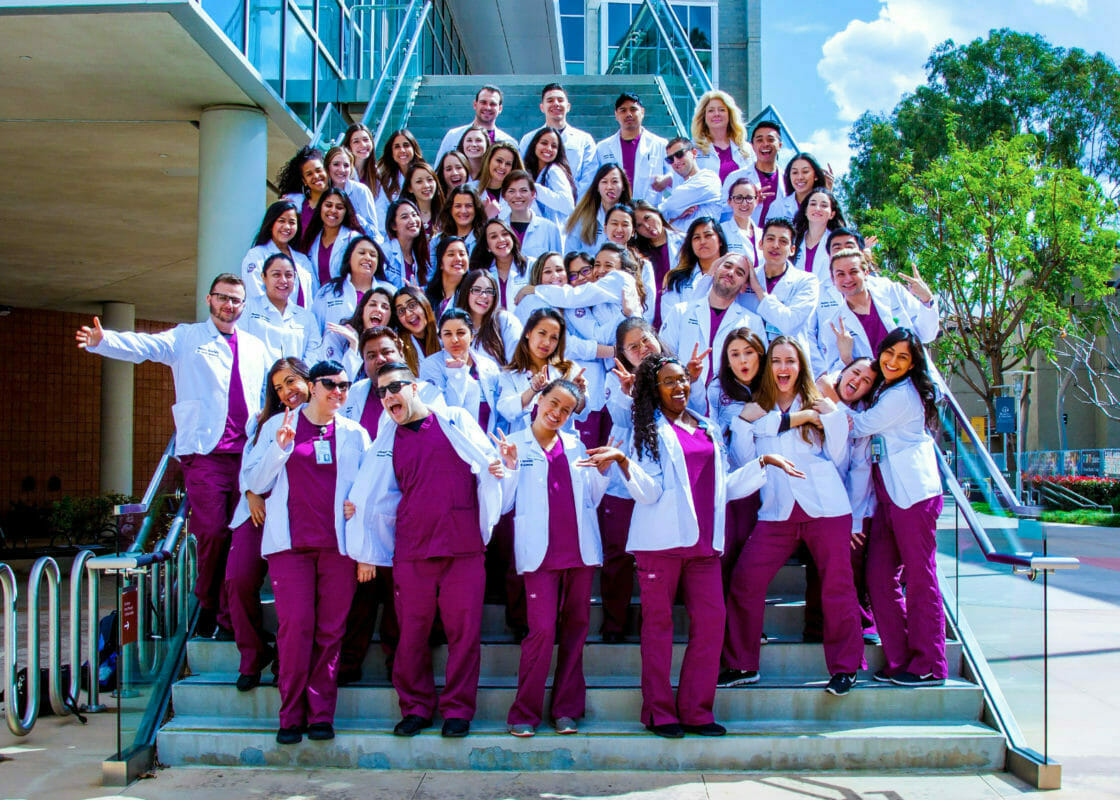 College of Graduate Nursing students group photo, students smiling and happy